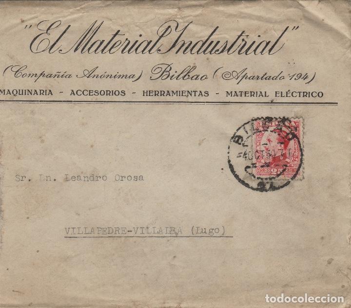 Sellos: SOBRE COMERCIAL memb EL MATERIAL INDUSTRIAL BILBAO año 1930 . - Foto 2 - 190992290