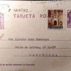 Sellos: ESPAÑA. TARJETA POSTAL CIRCULADA 14-5-1936. VER FOTO. Lote 191311718