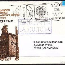 Sellos: SOBRE CIRCULADO CONMEMORATIVO ESPAMER '80 CON MATASELLOS CONMEMORATIVO SALON DEL REGALO. Lote 193164856