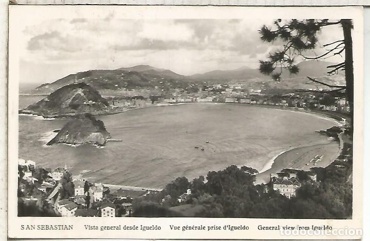 Sellos: SAN SEBASTIAN TARJETA A FRANCIA TASADA EN DESTINO 1954 SELLOS HERNAN CORTES - Foto 2 - 194143097