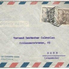 Sellos: VALENCIA CC COM MAT HEXAGONAL CORREO AEREO SELLOS FRANCO PERFIL. Lote 194143302