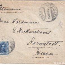 Sellos: SOBRE DIRIGIDO A ALEMANIA CON EDIFIL 319. MATASELLOS DE FECHA 15-ABRIL.1924.. Lote 194782902