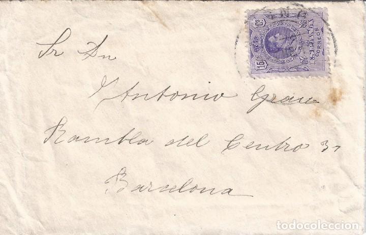 SOBRE DIRIGIDO A BARCELONA CON EDIFIL 270. (Sellos - Historia Postal - Sello Español - Sobres Circulados)