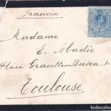Sellos: SOBRE DE LUTO DIRIGIDO A TOULOUSE CON EDIFIL 274 SIN MATASELLO.. Lote 194783596