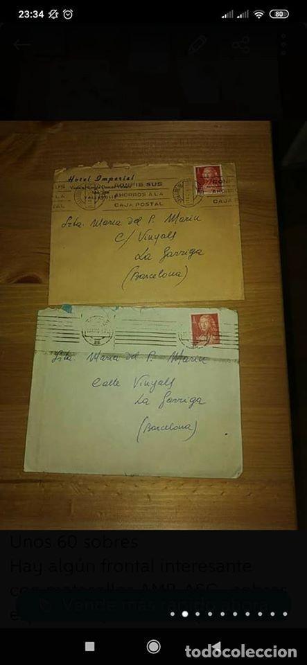 Sellos: pequeño lote de sobres circulados 1946 y 1962 - Foto 2 - 194975090