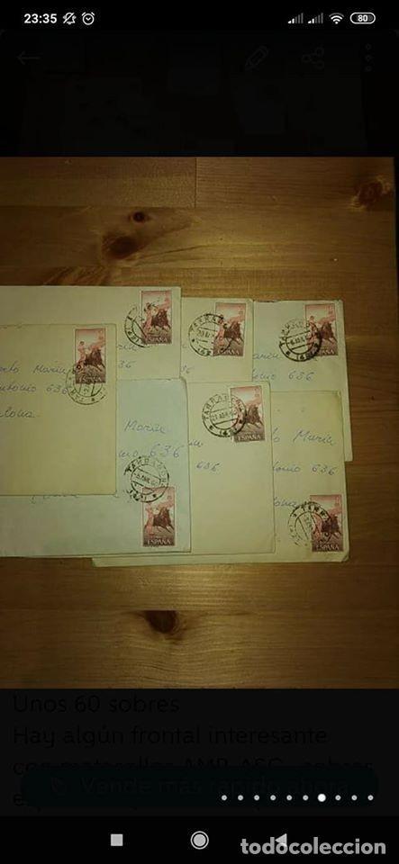 Sellos: pequeño lote de sobres circulados 1946 y 1962 - Foto 4 - 194975090
