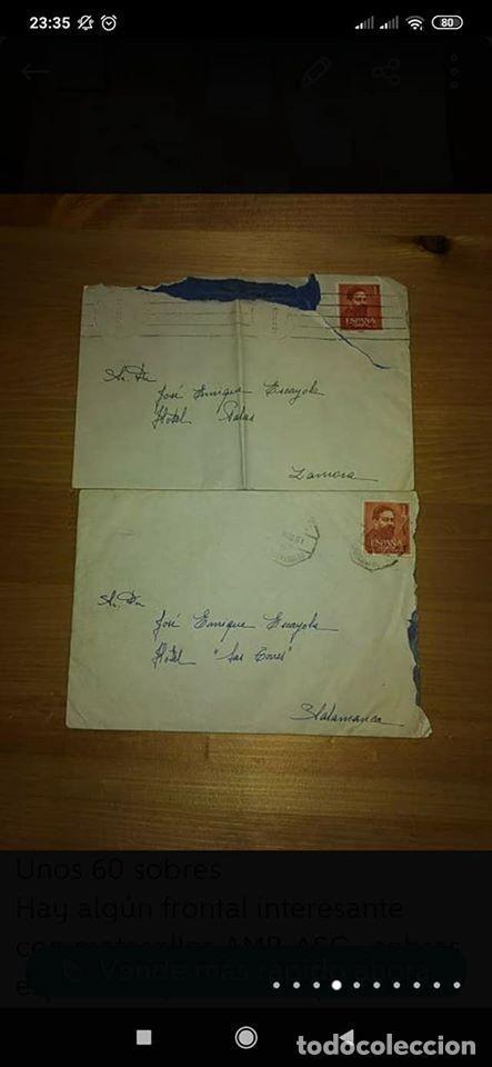 Sellos: pequeño lote de sobres circulados 1946 y 1962 - Foto 5 - 194975090
