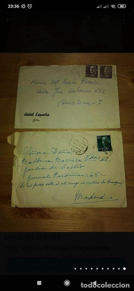 Sellos: pequeño lote de sobres circulados 1946 y 1962 - Foto 7 - 194975090