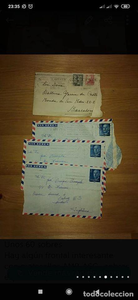 Sellos: pequeño lote de sobres circulados 1946 y 1962 - Foto 8 - 194975090