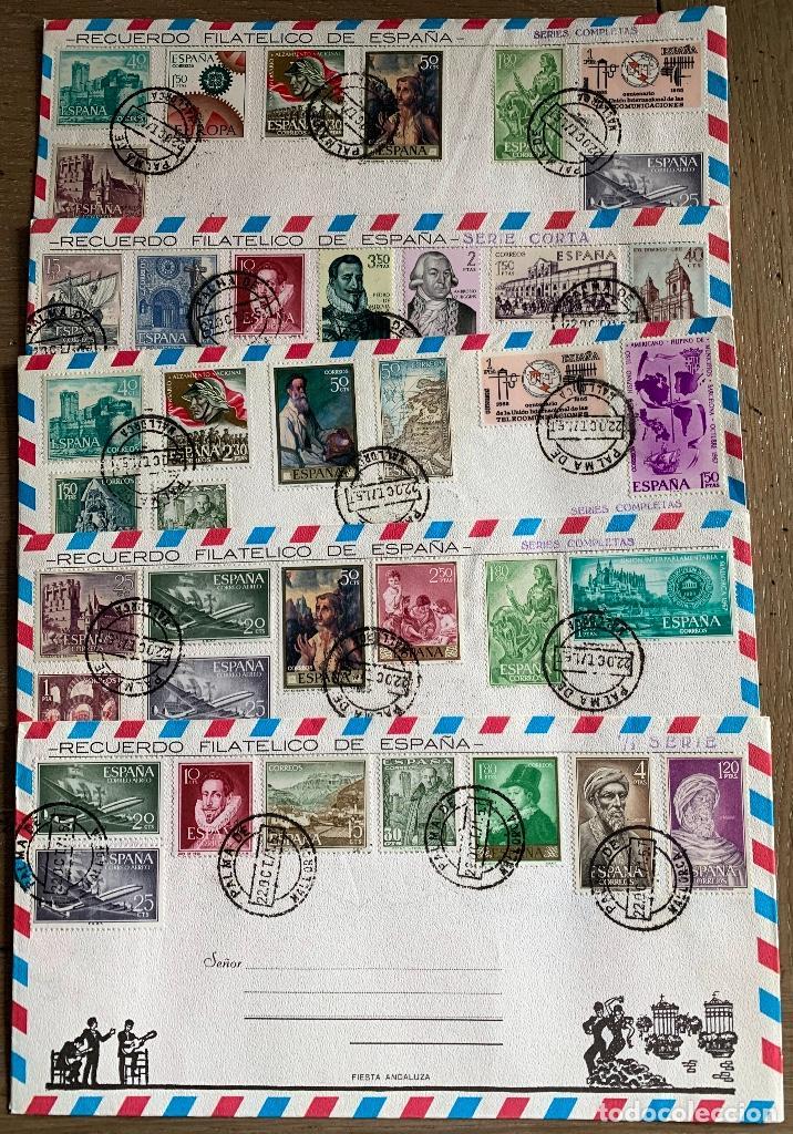 LOTE 11 SOBRES RECUERDO FILATELICO (Sellos - Historia Postal - Sello Español - Sobres Circulados)