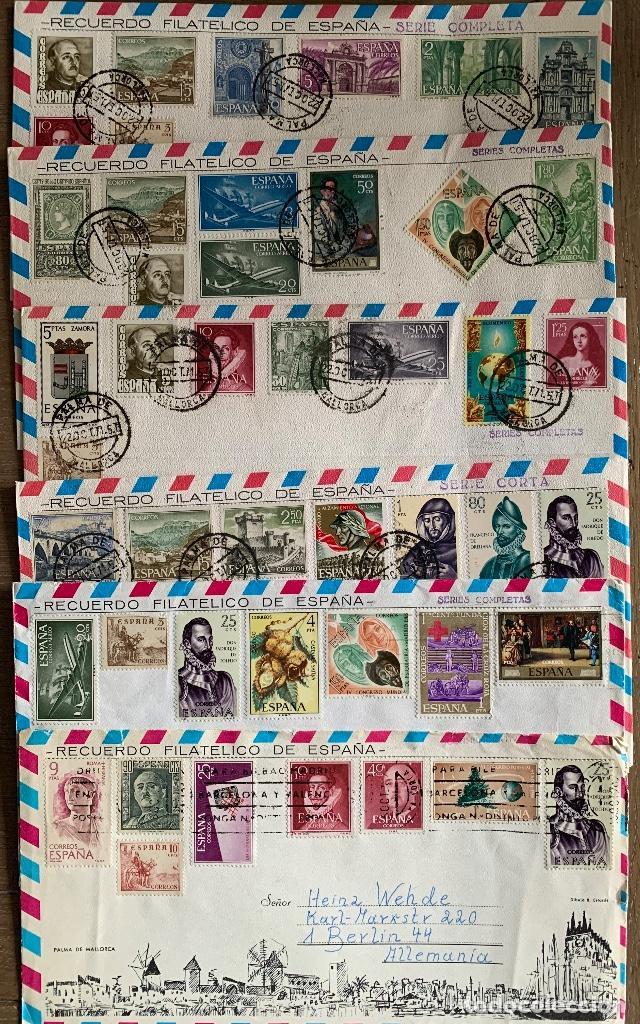 Sellos: LOTE 11 SOBRES RECUERDO FILATELICO - Foto 2 - 197903863