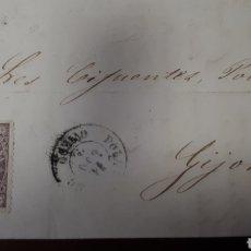 Sellos: FRAGMENTO DE CARTA CON SELLO AÑO 1867 C300. Lote 197957158