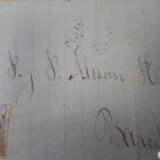 Sellos: CARTA DE ALICANTE A BARCELONA AÑO 1871 C302. Lote 197957853
