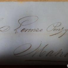Sellos: CARTA SIN CONTENIDO DIRIGIDA A MAHON 1866 C 307. Lote 197959690