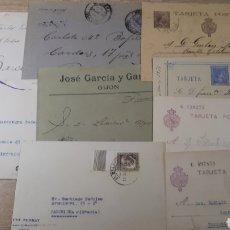Sellos: LOTE DE 9 CARTAS Y TARJETAS POSTAES SEGUN IMAGENES C314. Lote 197963371