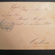 Sellos: FRANQUICIA CONGRESO DE LOS DIPUTADOS 1909 CARTA CEBREROS ÁVILA. Lote 198050627