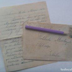 Sellos: CARTA CIRCULADA DE TOTANA ( MURCIA ) AL POBLADO MUDAPELO DE UTRERA ( SEVILLA ), 1954. SELLO FRANCO. Lote 198800515