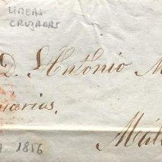 Sellos: CARTA ENTERA 1856 DE GRANADA A MALAGA. Lote 198845150