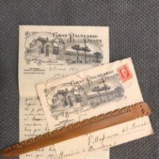 Sellos: GRAN BALNEARIO PRATS. CALDAS DE MALAVELLA A VILLAFRANCA DEL PANADES (A.1933) SELLO REPUBLICA. Lote 200738070