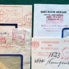 Sellos: 4 FRANQUEOS MECÁNICOS. Lote 204200752