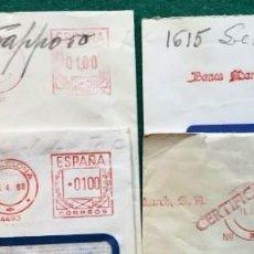 Sellos: 4 FRANQUEOS MECÁNICOS. Lote 204201786