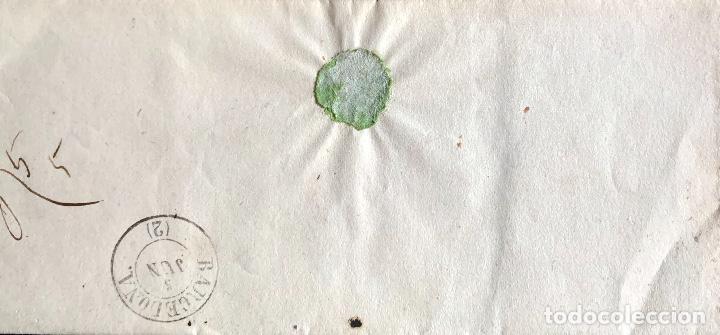 Sellos: 1859. TARRAGONA-BCN. ENVUELTA. EDIFIL 48A. - Foto 2 - 204528952