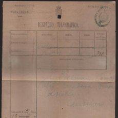 Sellos: DESPACHO TELEGRAFICO- TELEGRAFIA ELECTRICA.- AÑO 1870.. VER FOTOS. Lote 204840831