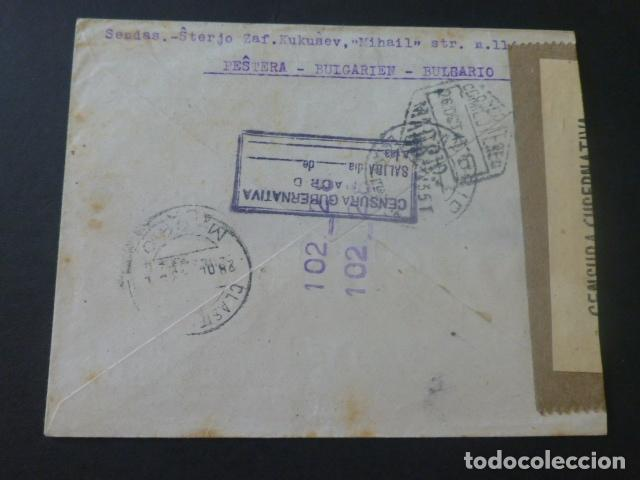 Sellos: 1943 SOBRE CIRCULADO DE BULGARIA A MADRID CENSURA GUBERNATIVA MADRID - Foto 2 - 205396986