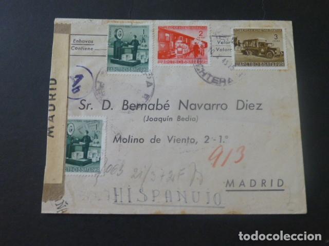 1943 SOBRE CIRCULADO DE BULGARIA A MADRID CENSURA GUBERNATIVA MADRID (Sellos - Historia Postal - Sello Español - Sobres Circulados)