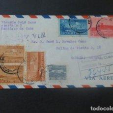 Sellos: 1953 SOBRE CIRCULADO DE CUBA A MADRID. Lote 205397210