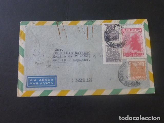 1953 SOBRE CIRCULADO DE BRASIL A MADRID (Sellos - Historia Postal - Sello Español - Sobres Circulados)