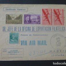 Sellos: 1946 SOBRE CIRCULADO DE ESTADOS UNIDOS A MADRID EXPORTACION FILATELICA. Lote 205398035