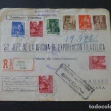 Sellos: 1946 SOBRE CIRCULADO DE HUNGRIA A MADRID EXPORTACION FILATELICA CENSURA GUBERNATIVA BARCELONA. Lote 205398183