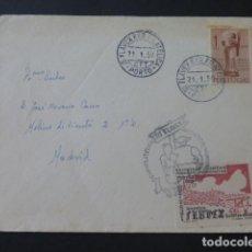 Sellos: 1950 CARTA CIRCULADA DE PORTUGAL A MADRID EXPOSICION FILATELICA PORTUGAL. Lote 205398626