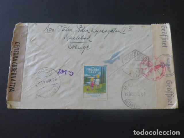 Sellos: 1943 CARTA CIRCULADA DE SUECIA A MADRID CENSURA NAZI MARCA CENSOR 147 CENSURA GUBERNATIVA - Foto 2 - 205399148