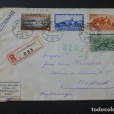 Sellos: 1944 CARTA CIRCULADA DE SUIZA A MADRID CENSURA NAZI MARCA CENSOR. Lote 205399325