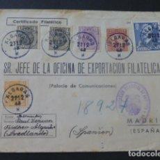 Sellos: 1944 CARTA CIRCULADA DE SUECIA A MADRID EXPORTACION FILATELICA VIÑETAS ESPERANTO. Lote 205399467