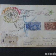Sellos: 1947 CARTA CIRCULADA DE ITALIA A MADRID CLUB ESPERANTO. Lote 205399852