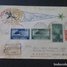 Sellos: 1947 CARTA CIRCULADA DE ITALIA A MADRID CLUB ESPERANTO. Lote 205400050