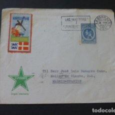 Sellos: 1947 CARTA CIRCULADA DE DINAMARCA A MADRID. Lote 205400417