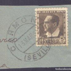 Sellos: FRAGMENTO-SELLO BLASCO IBÁÑEZ. MATASELLOS-FECHADOR. SEVILLA. CARMONA. 13/03/1935. Lote 205589963