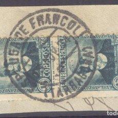 Sellos: FRAGMENTO-SELLO NICOLÁS SALMERÓN. MATASELLOS-FECHADOR. TARRAGONA. ESPLUGA DE FRANCOLÍ. 13/11/1934. Lote 205590672