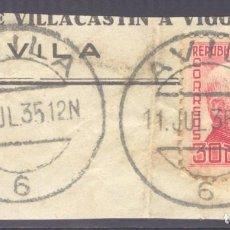 Sellos: FRAGMENTO-SELLO AZCÁRRATE. MATASELLOS-FECHADOR. ÁVILA. 11/07/1935. Lote 205594221