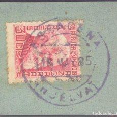 Sellos: FRAGMENTO-SELLO AZCÁRRATE. MATASELLOS-FECHADOR. HUELVA. ESCACENA. 16/05/1935. Lote 205594931