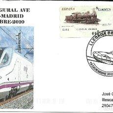 Sellos: CARTA CIRCULADA Y CON ATM FERROVIARIA , MATASELLADO EN VALENCIA. Lote 206533286