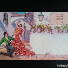 Sellos: ESPAÑA. AÑOS 50/60. SOBRE PROPAGANDA TURÍSTICA DE SEVILLA Y GRANADA. NUEVO. MAGNÍFICO Y RARO.. Lote 207411247