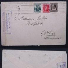 Selos: ESPAÑA CENSURA MILITAR 1936 BARCELONA CARTA DIRIGIDA A COTTBUS (ALEMANIA). Lote 207876777