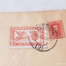 Sellos: SOBRE ENVIADO DE VITORIA A MADRID. VARIOS MATASELLOS. AMB NORTE CERTIFICADO, MADRID Y VITORIA. 1926.. Lote 209021267