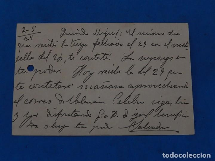 Sellos: Tarjeta Entero Postal. Baleares a Bullas (Murcia). 1925. - Foto 2 - 209323825