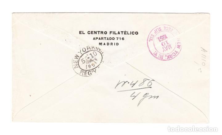 Sellos: 5 MAYO DEL 51 VILLA BENS SERIE CORREO AÉREO FRANCO Y PAISAJES A NEW YORK GEORGE HERZOG - Foto 2 - 209623462